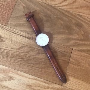 Daniel Wellington leather and rose gold watch